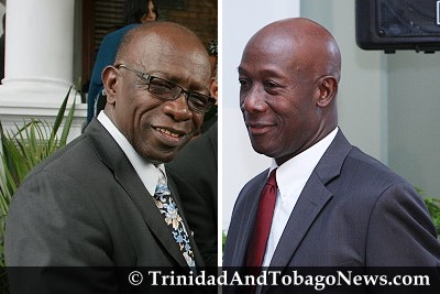 Acting PM Jack Warner and Opposition Leader Dr Keith Rowley