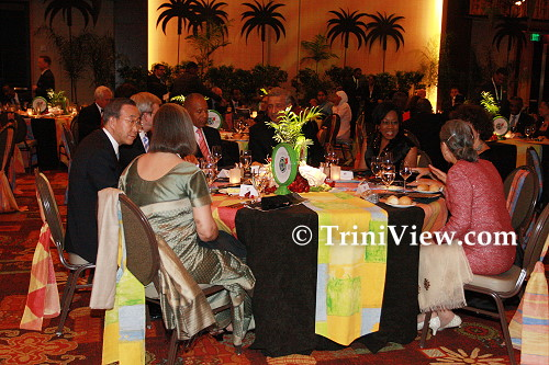 CHOGM Dinner and Cultural Programme hosted by the Honourable Patrick Manning, Prime Minister of the Republic of Trinidad and Tobago, and Senator the Honourable Hazel Manning for Heads of Delegation and Spouses