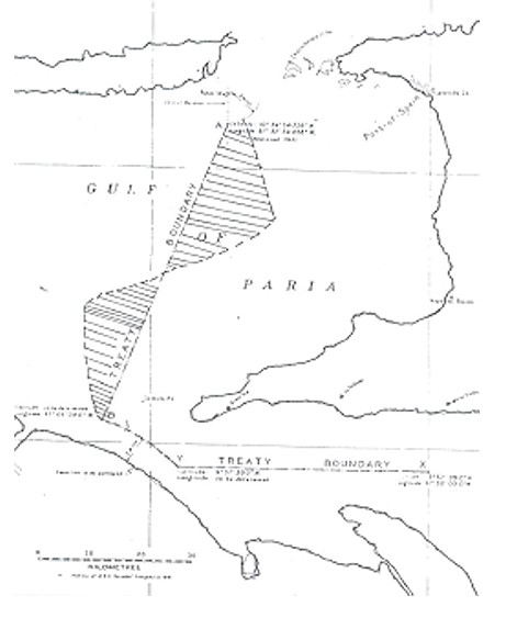 Territory of Trinidad and Tobago via The Gulf of Paria